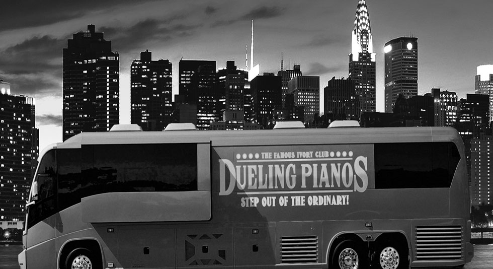 Dueling Pianos Tour Bus